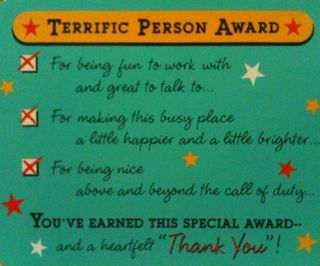 Terrific person award